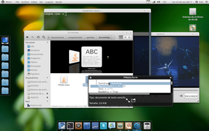 My Linux desktop by Algalord-Gnome