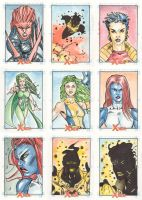 Xmen Archives Sketchcards 9 by Csyeung