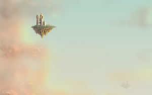 Flying islands close up by stitch-84