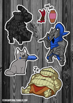 Dark Souls Sticker Pack by FerrumPenna