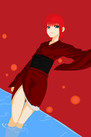 Red lady by Cataberry