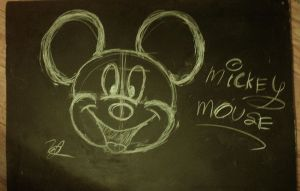 Mickey Mouse-Chalk Board by ZachJ