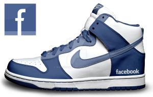 Custom Nike Dunks: Facebooks by kaycunana