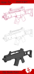 How to draw a gun by UCXIII