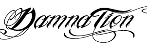 DamnaTion  tattoo font by symbolofsoul