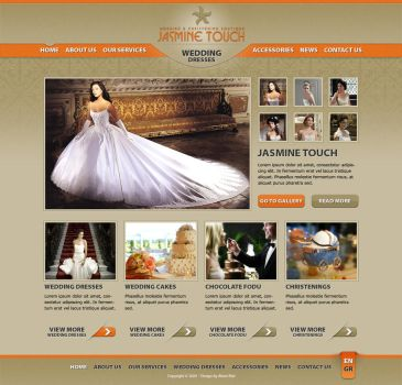 Wedding Dresses Website by alwinred