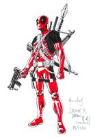 Deadpool scketch by UltimateRubberFool