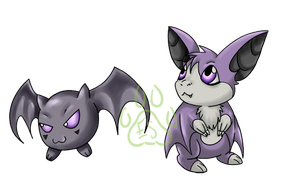 Commission_Baby Bat Digimon by EmeraldSora