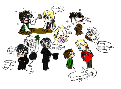 Les Mis Doodles by Mapleshademaria