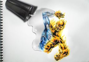 Human Torch Coming to Life by logan968