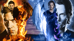 Dean and Sam - Demon and Angel by chriscastielredy