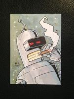 Bender sketch card by MikimusPrime