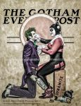 Joker and Harley Quinn - Gotham Evening Post by Lady-Ha-ha