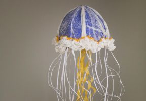 Paper Jellyfish Detail by KarmaKhameleon