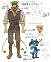 Secondary character Yosef the tauros by Betachan