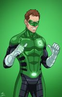 Green Lantern Hal Jordan (Earth-27) commission by phil-cho
