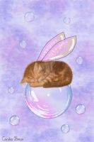 Bubble Fairy Cat by VioletDolphin