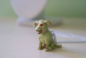 Zombie Puppy Necklace by foowahu-etsy