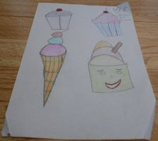 ice-cream and cup cakes by alisonporter1994