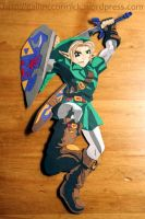 Ocarina of Time Link - Paper Cut by zippybluedwarf