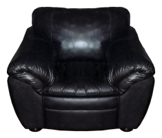 Black Leather Chair - PNG by Walking-Tall