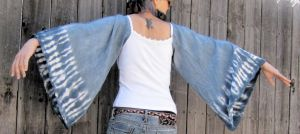 Upcycled Indigo Tie Dyed Tunic by DewdropzGarden