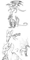 Dragon Sketches by zelink14