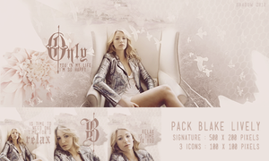 Pack Blake Lively {signature and icons} by shad-designs