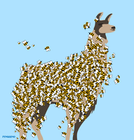 Bee-Covered Llama by pinguino