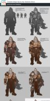 Barbarian character design step by step tutorial by XiaTaptara