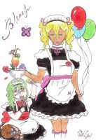 Attendants Bleach: Maid Harribel and Nel by cookies777