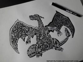 CHARIZARD - Tribal Style Tattoo Design by ImportAutumn