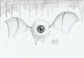 Flying Eyeball by TheR-tist