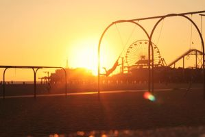 sunset at santa monica by serhat2174
