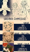 Inktober Commissions (OPEN) by PiruuPi