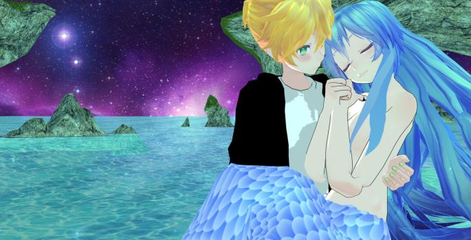 miku and len love!! 2 by nani7miku