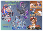 COM: May June 2015 Badge pile! by carnival