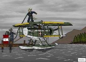 Tales of the airpost Refueling the Seaplane by dan338