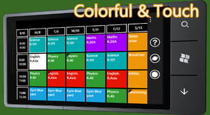 MyTimeTable Colorful Free by juanpablogc