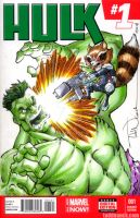 Hulk vs RocketRaccoon by ToddNauck