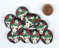 Skull buttons by Glori305