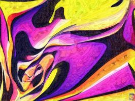 pink and yellow abstract by imageking10