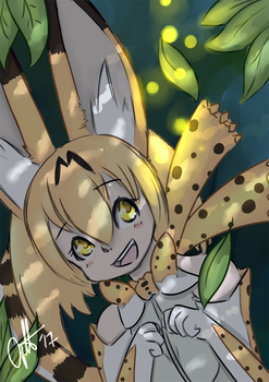 Serval by elenawing