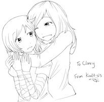 Lineart: For Clarey-sis by koolit13