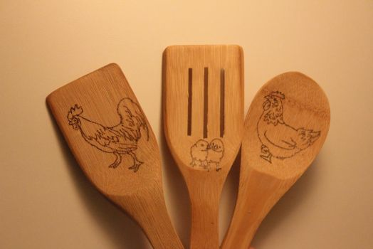 Chicken spoon set by Jazzy23
