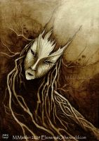 Creature of Bark and Roots by DarkLiminality