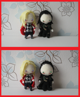 Two Commissions: Thor and Loki by Yuki87