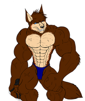 Big Bad Wulf in color by SabreWolfQueen