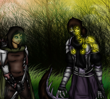 Contest Entry: Artemis and Evadne by NinjaWerewolves