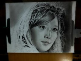 taeyeon drawing  on process 2 by Thesadsteven